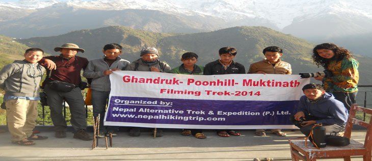 Filming trekking in Ghandruk and jomsom