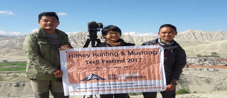Honey hunting tour
