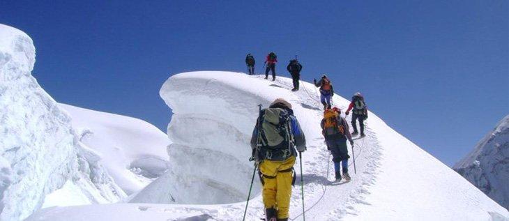 Mingbola pass with mera peak climbing