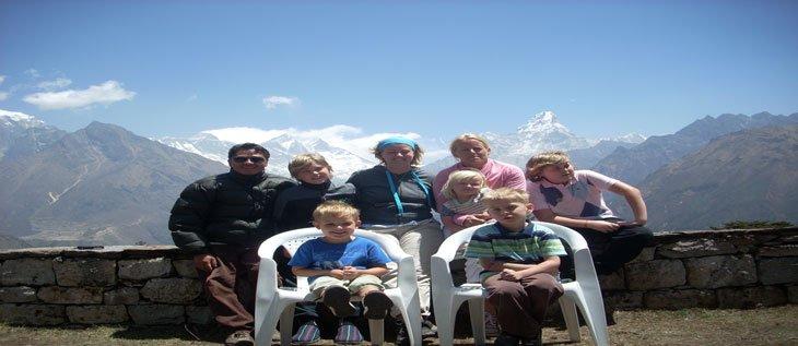 Everest trekking with kids